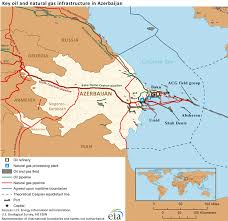 Gas Map File Key Oil And Natural Gas Infrastructure In Azerbaijan Png
