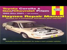 1993 toyota camry repair manual toyota corolla geochevrolet prizm 1993 2001 haynes automotive
