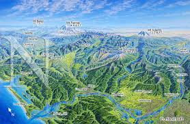 Map Of Washington State by Washington Southwest James Niehues Map Artist Ski Maps