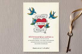 retro tattoo wedding invitations by jody wody minted