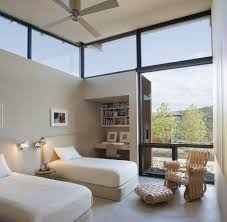 bedroom open plan desert house in santa fe new mexico