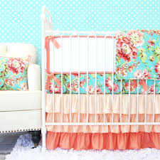 teal crib bedding set coral crib bedding coral baby crib bedding sets coral and aqua