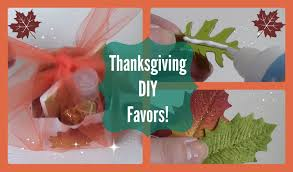 diy thanksgiving favors also used as place settings