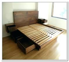 Bed Platform With Drawers Platform Bed With Shelves Build Platform Bed With Frame With