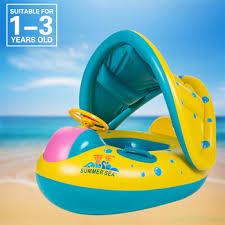 siege bebe gonflable été gadget gonflable bébé flotteur bateau parasol bébé de natation