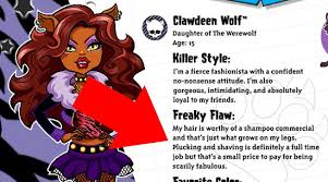 monster clawdeen wolf doll teaches girls plucking