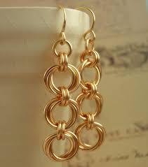 14kt gold earrings 14kt gold filled earrings or kit linked loops ii eyecatching