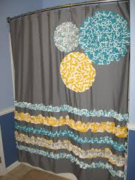 Chevron Valance Curtains Shower Curtain Custom Made Ruffles And Flowers Designer Fabric