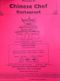 Chinese Buffet Hours by Chinese Chef Restaurant Chinese 850 College St Eastman Ga