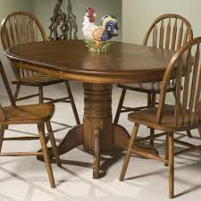 intercon classic oak single pedestal round dining table old