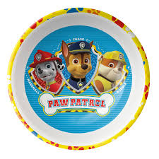 paw patrol cereal bowl for sale rubble rocky marshall