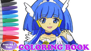 glitter force glitter breeze coloring smile precure cure beauty