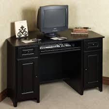 best corner desk furniture black corner desk and orange rolling chair set black
