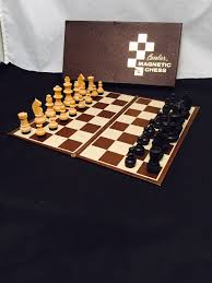 magnetic chess set cavalier in original box folding chess board