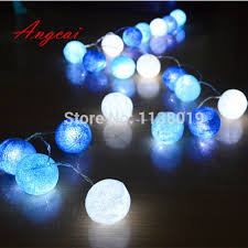 20pcs sets blue light blue white led battery powered cotton