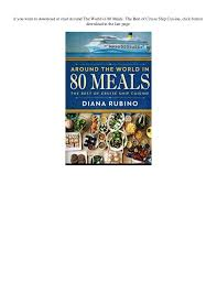 ebook cuisine pdf around the in 80 meals the best of cruise ship