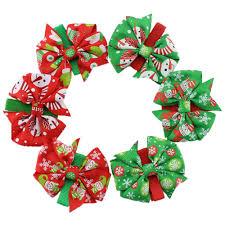 christmas ribbon bows 30pcs lot christmas bow hair grosgrain ribbon bow with