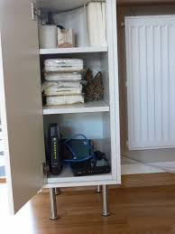 cabinet for router and modem ikea hackers customized hallway solutions router and modem hidden