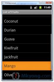 android listview exle android listview exle