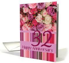 32nd wedding anniversary 40th wedding anniversary card wedding anniversary cards