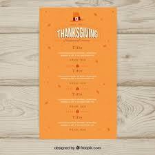 orange thanksgiving menu template vector free