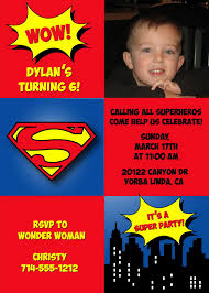 superman birthday party invitations kids birthday party