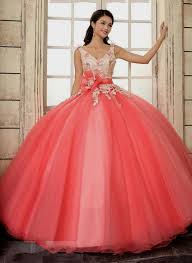 coral quince dress quinceanera dresses 2015 coral naf dresses