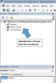 delete a module using vba in microsoft excel microsoft excel