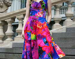 colorful dress colorful dress etsy