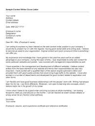 ideas of cover letter for content writing job on example