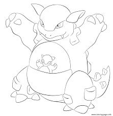 115 kangaskhan pokemon coloring pages printable