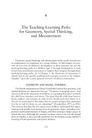 6 the teaching learning paths for geometry spatial thinking and