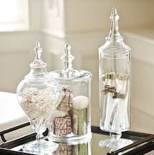 Bathroom Storage Jars Glass Apothecary Jars To Hold Guest Bath Accessories Bathrooms