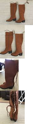 buy s boots size 11 boots 53557 brown knee high boots side zipper block heel
