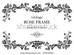 ornamental frame roses stock vector 108471725