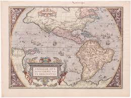 Nova Map 1588 Ortelius Americae Sive Novi Orbis Nova Descriptio