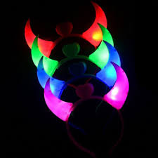 hair band ox horn pattern with led lights for halloween party