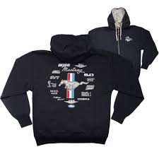 ford mustang jacket apparel hoodie zip up black ford mustang emblems cj pony parts
