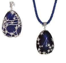 sapphire star necklace images A highly unusual star sapphire and diamond pendent necklace jpg