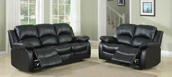 Leather Reclining Living Room Sets Homelegance Cranley Reclining Sofa Set Black Bonded Leather