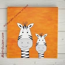 tableau chambre enfants tableau animaux de la jungle pour la décoration de la chambre de
