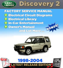1998 2004 land rover discovery 2 service repair manual workshop