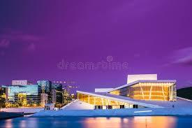 chambre nationale oslo norvège vue de soirée de nuit de chambre nationale norvégienne