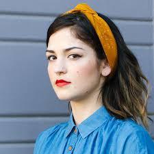 wire headband burnt mustard dot wire headband shop fabric headbands mane message
