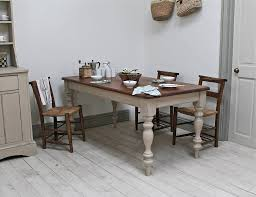 Distressed Kitchen Table Bench Photo Distressed Kitchen Tables - Country kitchen tables and chairs