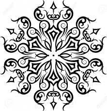 circular tribal tattoos tribal tattoo circular vector art royalty