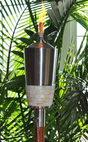 tiki torches citronella oil torch poles outdoor patio garden