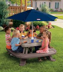 fisher price childrens picnic table little tikes fold n store picnic table with market umbrella the
