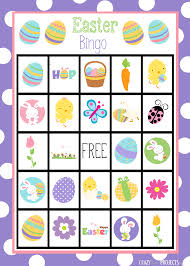 free printable halloween bingo game cards easter bingo game crazy little projects