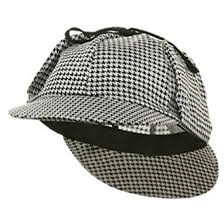 amazon sherlock holmes hat color black white clothing